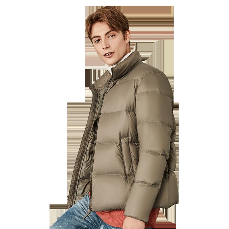 坦博尔2019新品羽绒服男款轻薄时尚立领保暖面包服冬外套TF19355