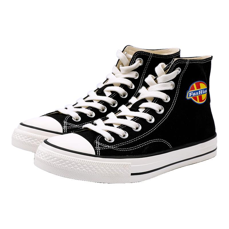 帆布鞋高帮小白鞋休闲鞋板鞋子韩版百搭