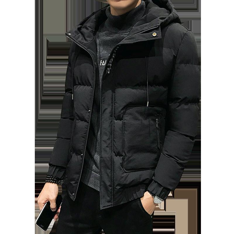 棉衣男冬季保暖外套2019新款棉袄青年男韩版潮流保暖连帽男士棉衣