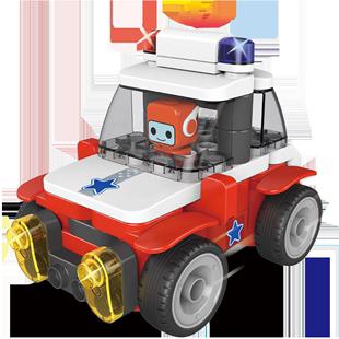 百變布魯可大顆粒兒童拼插積木車益智布魯克拼裝非樂高玩具男女孩