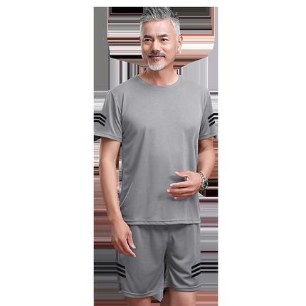 爸爸夏装40岁运动老人夏季休闲裤子