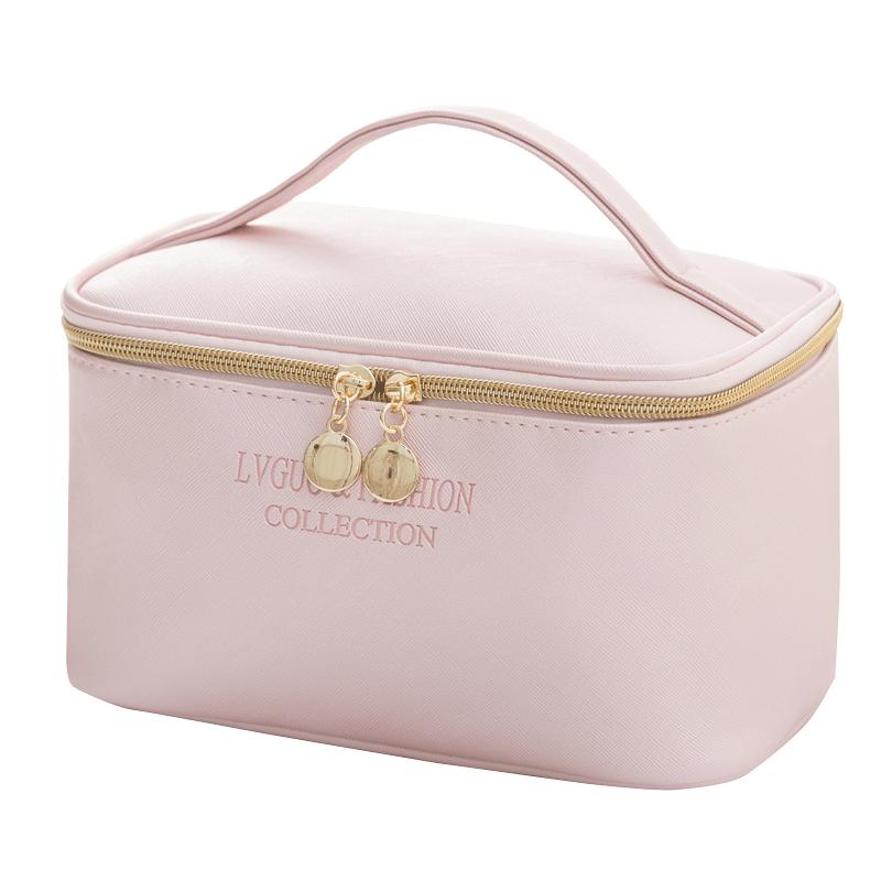 网红化妆包便携防水大容量收纳包简约日系少女化妆品手提袋洗漱包
