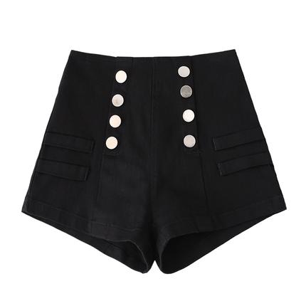 黑色高腰牛仔女夏2019新款a字短裤