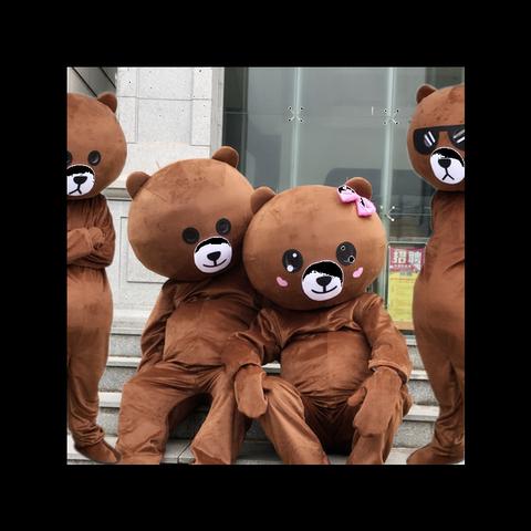 雅兰可网红熊装人偶服装成人熊卡通玩偶服传单熊卡丘行走服