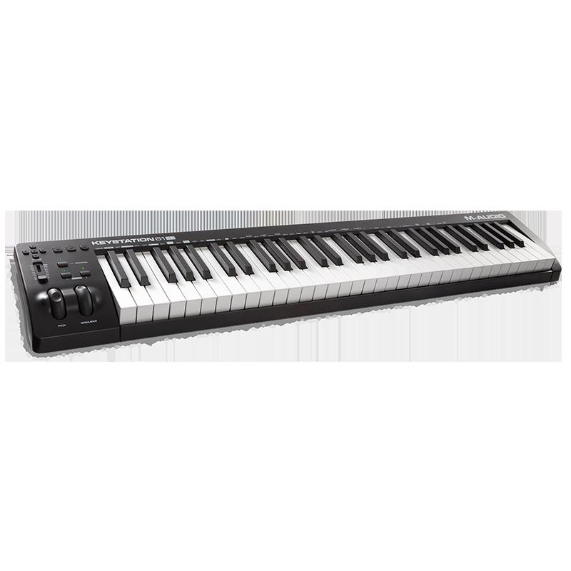 M-audio Keystation 61键 88键专业midi键盘控制器半配重编曲键盘