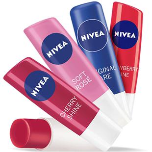 妮維雅潤唇膏保濕滋潤補水無色男女變色唇部護理淡化唇紋官方正品