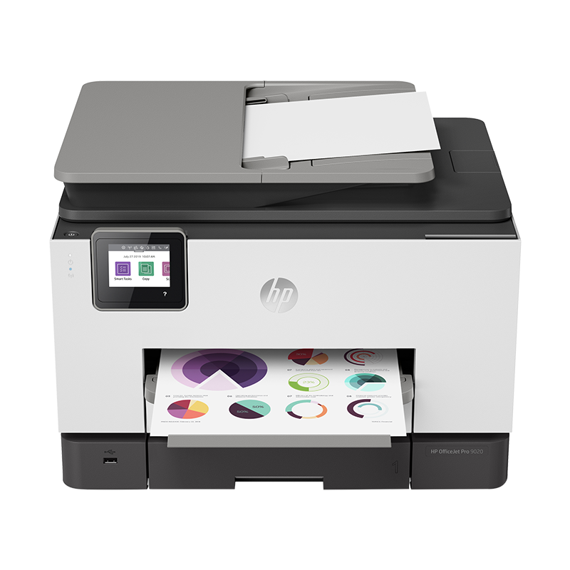 HP惠普9010/9020彩色自动双面打印机复印扫描传真一体机无线wifi喷墨照片连续输稿网络办公用商用可连接手机