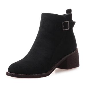 靴子女短靴2020冬季新款高跟粗跟ins馬丁靴女短筒網紅瘦瘦靴棉鞋