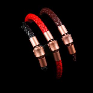 可替換周生生皮繩手繩 同款XL刺青系列串珠 粗款手鍊頸繩皮