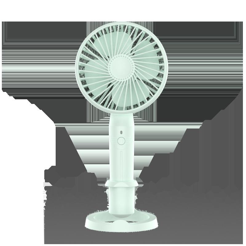 日本SLUB小风扇usb充电便携式随身手持小型学生宿舍女桌面办公室桌上电动手拿握迷你冲电大风力超静音电风扇