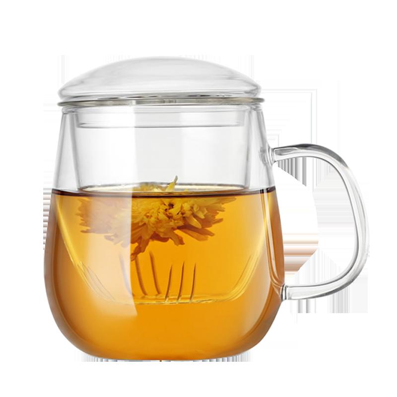 家用茶水分离耐热玻璃杯