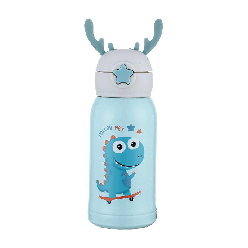 儿童保温杯带吸管316不锈钢幼儿园小学生便携两用宝宝水杯壶定制