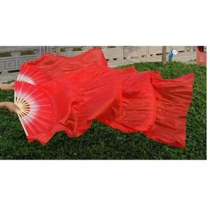 中国风红色绸带广场舞长绸子舞扇子