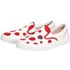 asahi朝日男女童日本制帆布鞋红色波点一脚蹬小白鞋熊本熊亲子款