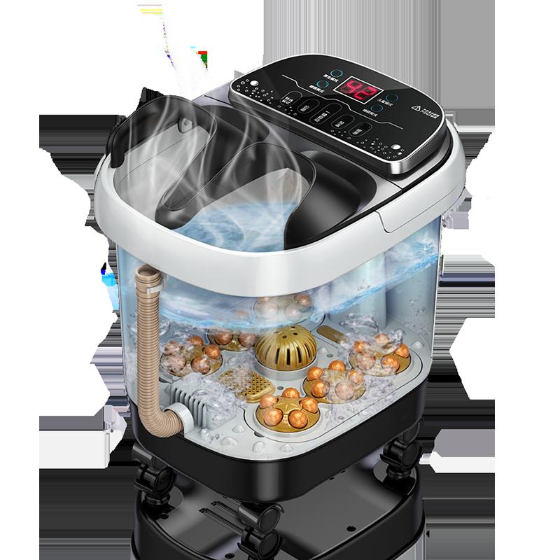 泡脚桶电动按摩洗脚盆全自动加热恒温足浴盆足疗机家用洗脚盆神器