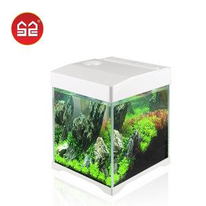 森森桌面玻璃热带鱼at-350生态鱼缸