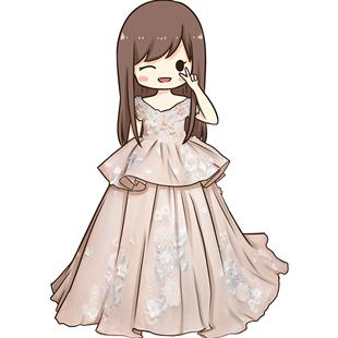 兒童禮服花童禮服主持走秀生日服鋼琴表演禮服女童公主裙拖尾秋冬