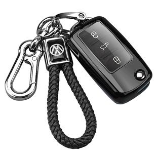 一汽大眾寶來車鑰匙套男士潮朗行途觀個性殼扣全新一代速騰鑰匙包