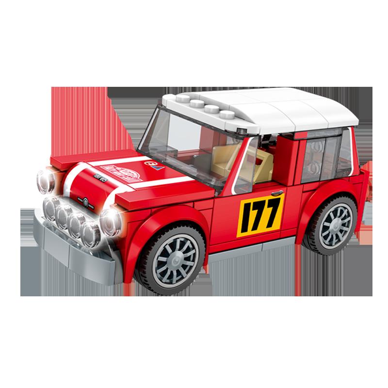 森宝积木拼装益智玩具汽车模型
