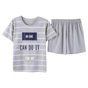 韩版夏季全纯棉短袖短裤宽松睡衣