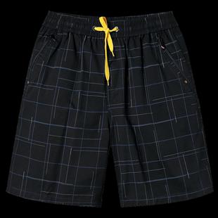 香顏爸爸短褲夏裝中年男士鬆緊五分褲穿中老年男裝純棉褲子父親節