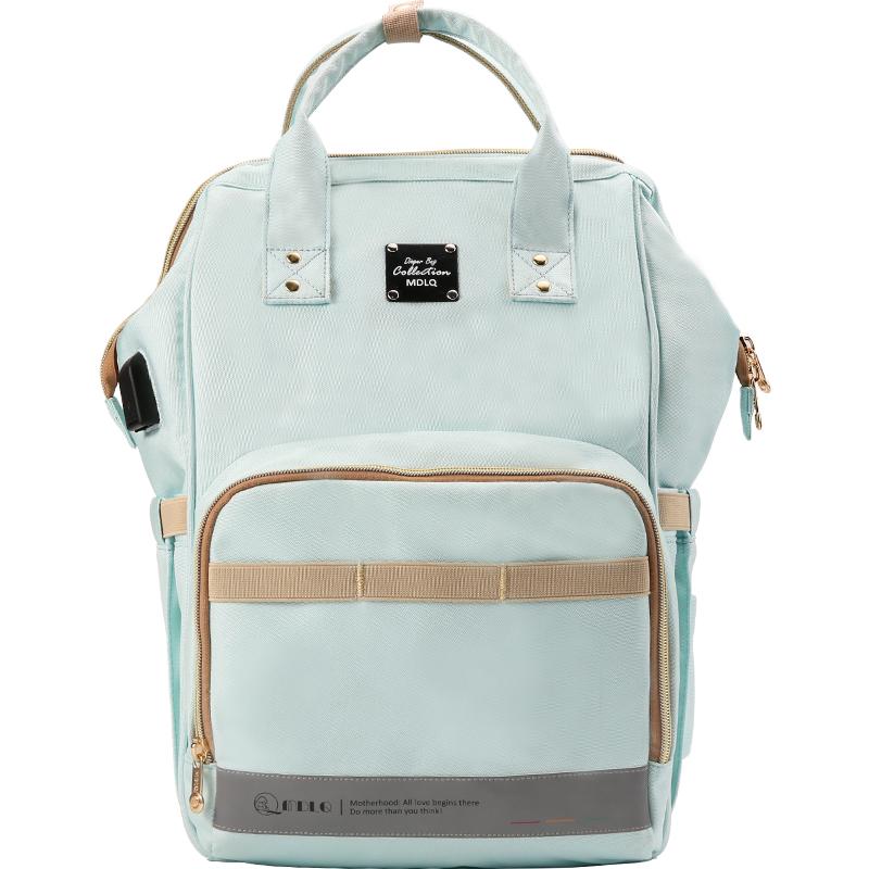 妈咪包双肩包2021新款妈妈孕妈外出时尚轻便大容量多功能母婴背包