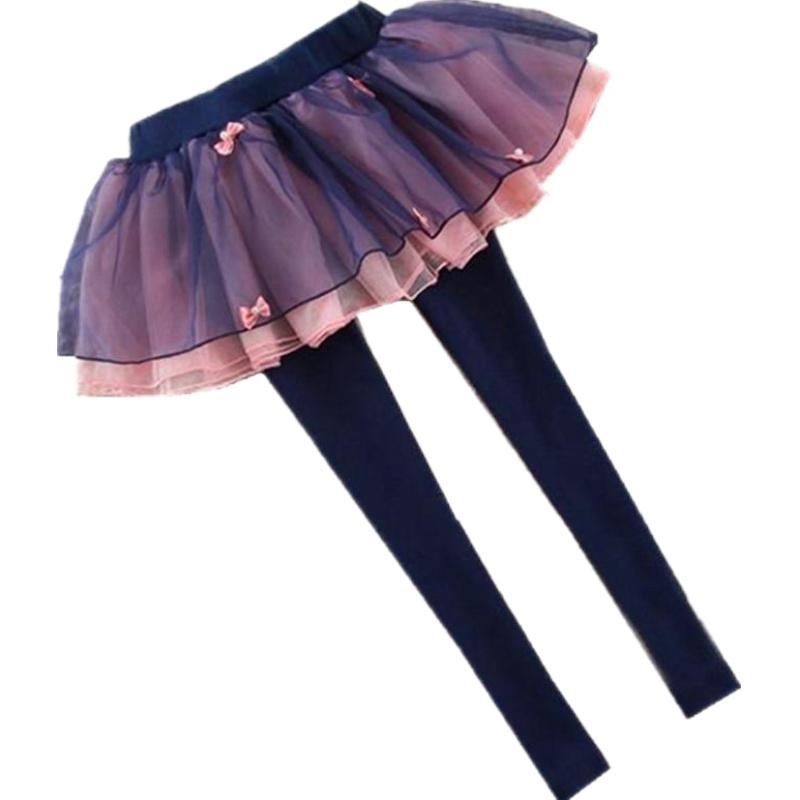 网红春秋女童裙裤韩版小中大童加绒假两件打底裤外穿长裤2020新款