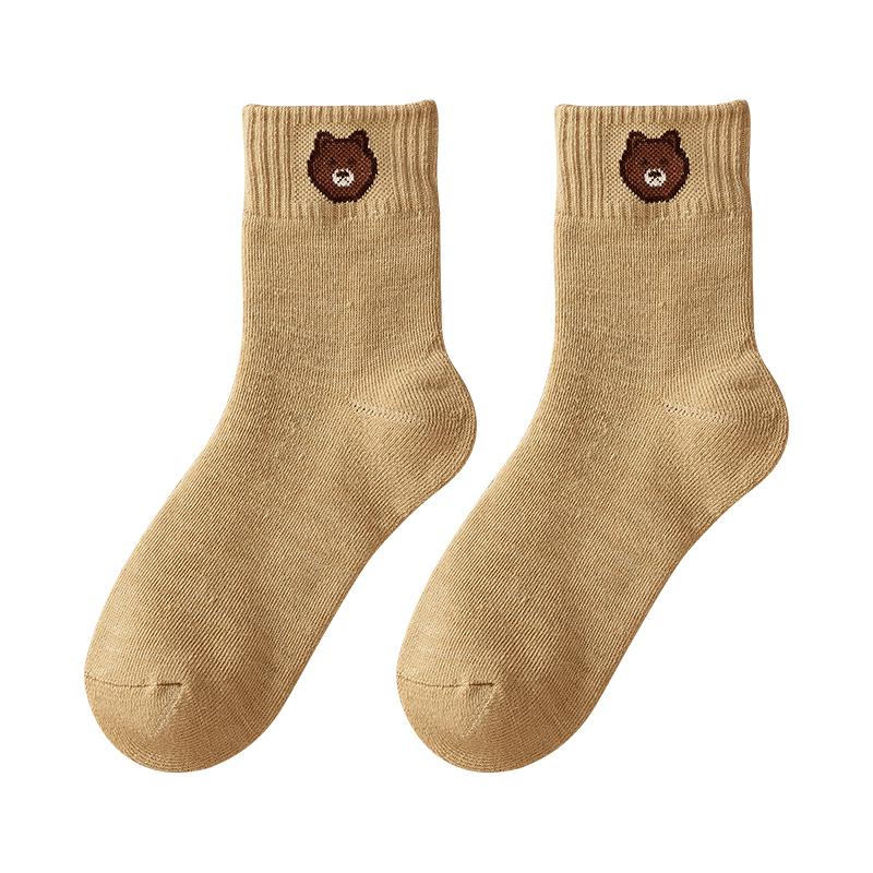 冬天袜子女中筒棉袜长袜毛巾加绒羊毛毛圈袜睡眠加厚保暖袜秋冬季