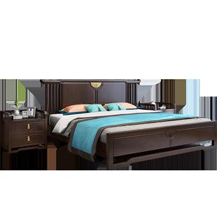 新中式實木牀1.8米雙人牀1.5古典禪意主卧室現代簡約傢俱工廠直銷