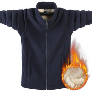 19冬季男士加绒抓绒开衫加厚卫衣