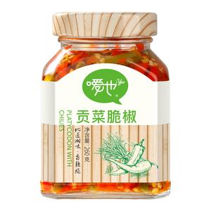 【1份2瓶】嗳也湖南风味贡菜脆260g椒
