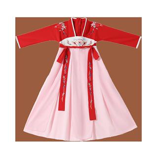 兒童古裝漢服女童超仙寶寶襦裙中國風唐裝小女孩古風長袖連衣裙夏