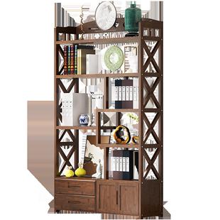 博古架實木中式書架書櫃多寶閣古董架仿古傢俱茶葉櫃展示櫃置物架