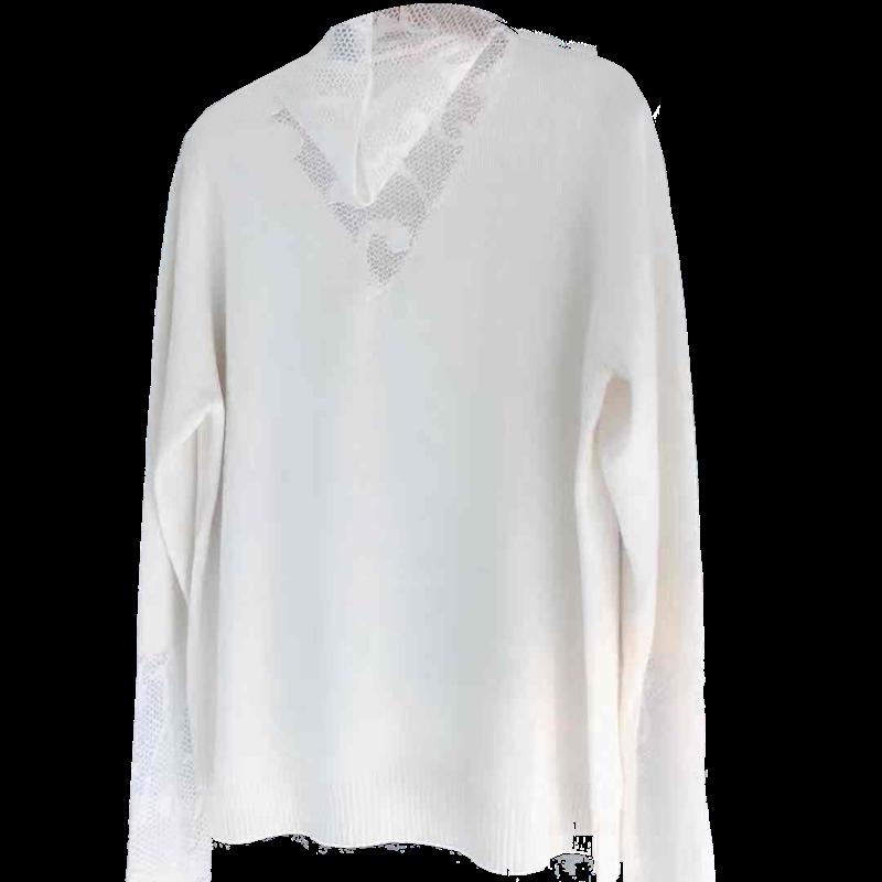 2019秋冬季新款高领针织衫修身显瘦内搭长袖毛衣蕾丝拼接打底衫女