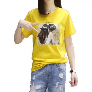 短袖t恤女純棉2020新款韓版寬鬆夏裝體恤衫女士半袖上衣ins超火潮