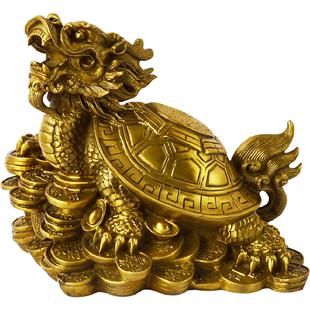 開光銅龍龜葫蘆擺件龜背葫蘆銅製玄靈護歲福祿歸來招財轉運旺事業