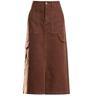 牛仔半身裙女中長2020年秋季新款顯瘦高腰a字設計感小眾包臀裙子