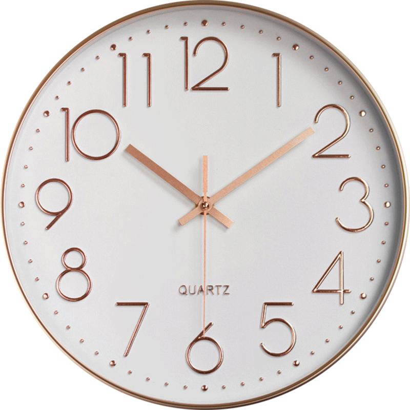 现代简约挂钟家用客厅静音挂表免打孔创意餐厅壁钟大气钟表石英钟