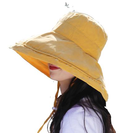 女春夏天沙滩大檐防紫外线渔夫帽