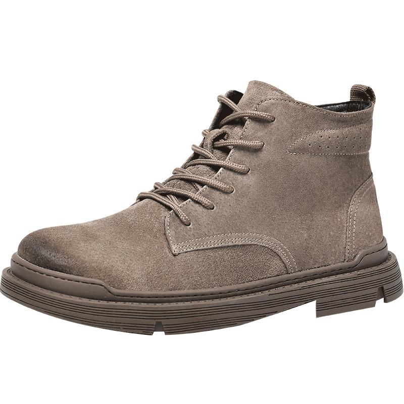 男鞋秋冬季真皮马丁靴男高帮工装鞋中帮靴子男英伦风军靴沙漠短靴