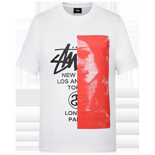 stussy短袖男女2020新款夏季維納斯歐美潮牌個性印花圓領寬鬆T恤