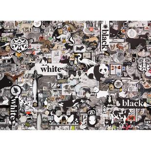 CobbleHill加拿大進口拼圖黑白熊貓彩虹8副全套成年減壓1000片
