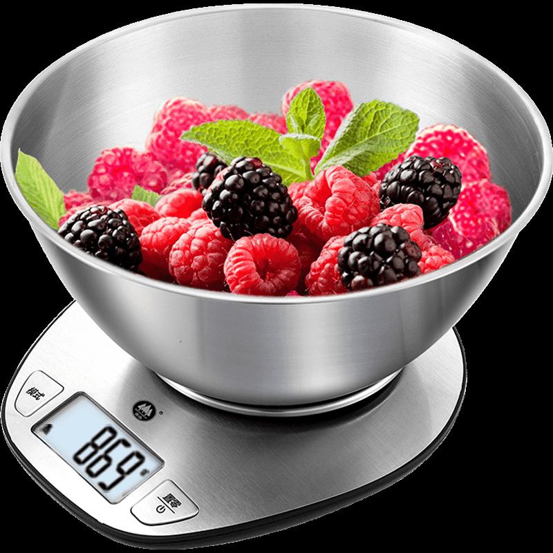 香山出口欧洲原款厨房秤烘焙秤0.1g精度家用电子秤克秤小型电子称