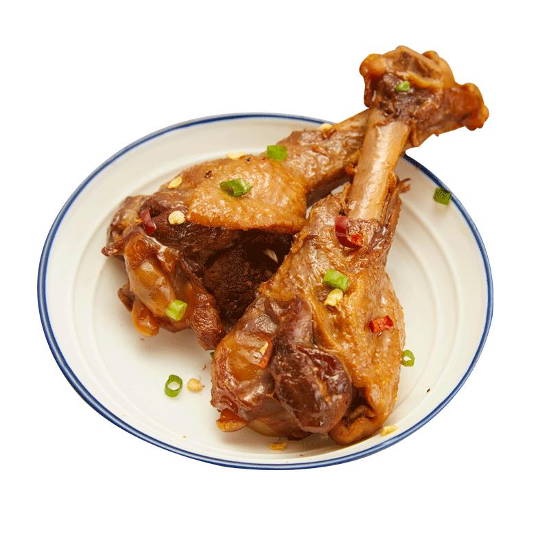 山岱王鸭翅根蜜汁小鸭腿真空熟食健康夜宵充饥即食网红零食小吃