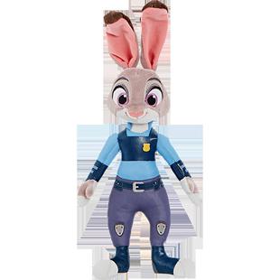 迪士尼商店 瘋狂動物城棉尾兔朱迪警官玩偶公仔毛絨玩具娃娃公仔