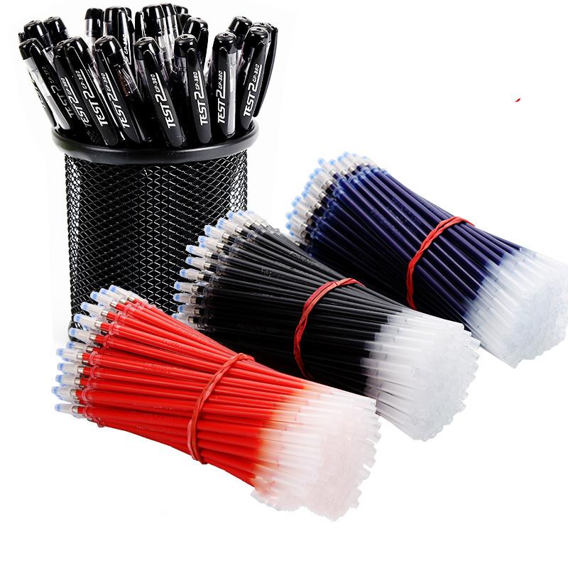 100只笔芯中性笔黑色水笔