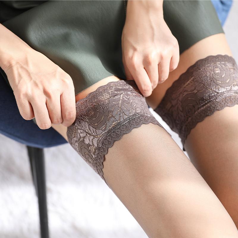 长筒丝袜女过膝大腿灰色薄款性感高筒半截隐形硅胶防滑防勾丝超薄
