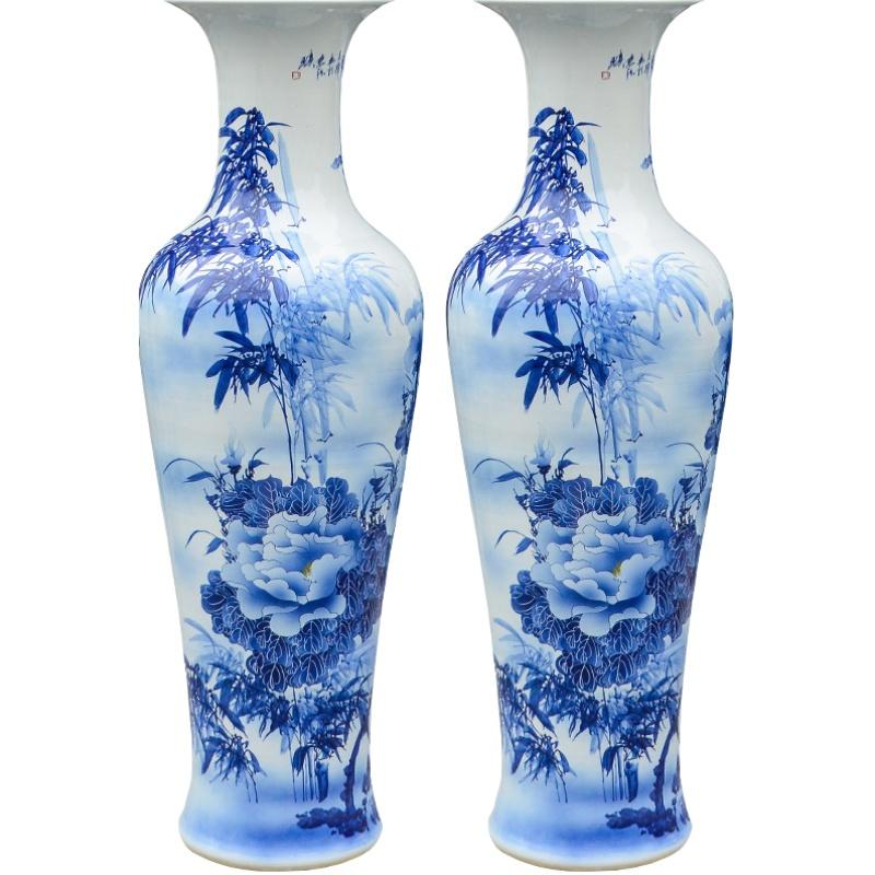 景德镇陶瓷手绘牡丹花青花瓷大花瓶性价比好不好