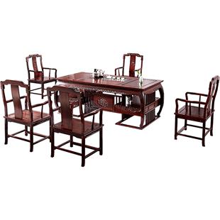 紅木茶桌椅組合套裝酸枝木實木小茶台新中式茶几功夫茶莊藝桌原木