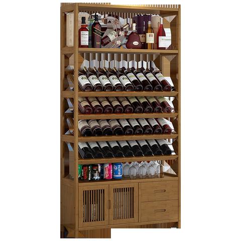 红酒架办公室置物架展示柜家用客厅餐厅酒柜实木酒杯架摆件收纳架